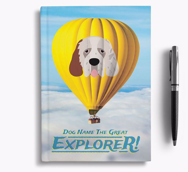 'Hot Air Balloon' - Personalized Clumber Spaniel Notebook