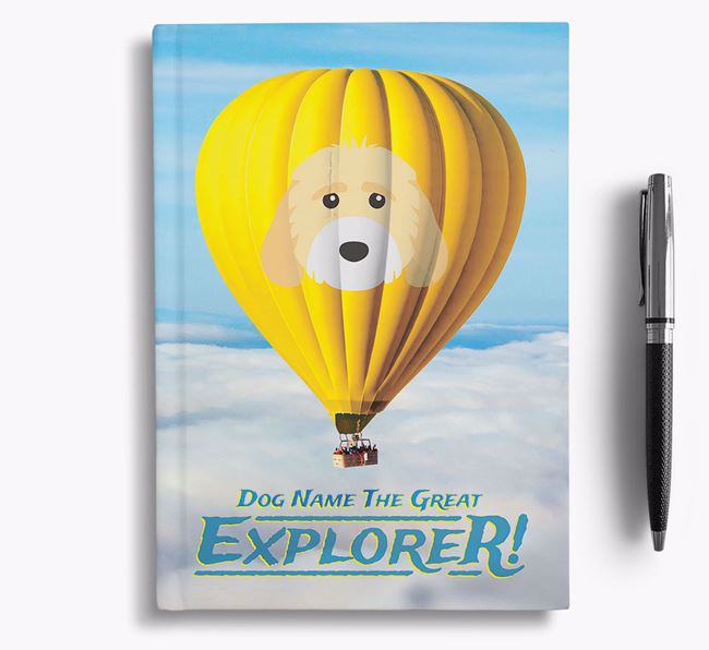 'Hot Air Balloon' - Personalized Cockapoo Notebook