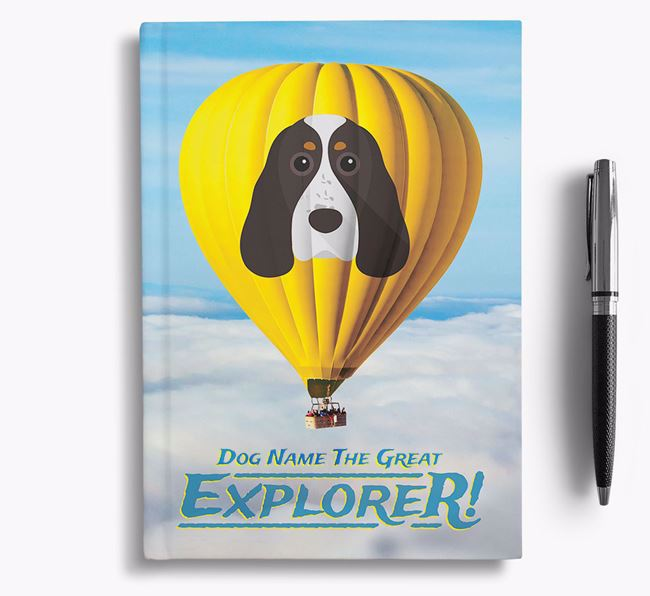 'Hot Air Balloon' - Personalized Cocker Spaniel Notebook