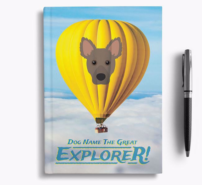 'Hot Air Balloon' - Personalized Dameranian Notebook