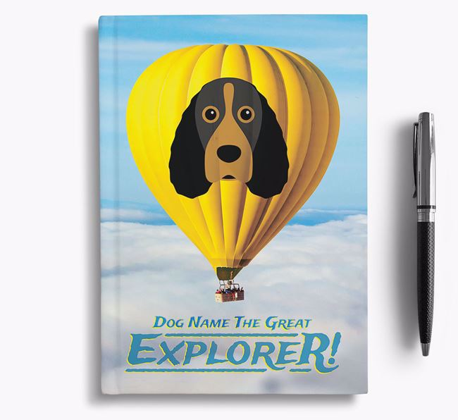 'Hot Air Balloon' - Personalized Field Spaniel Notebook