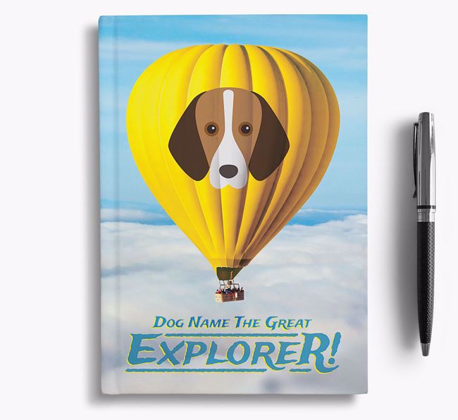 'Hot Air Balloon' - Personalized Foxhound Notebook