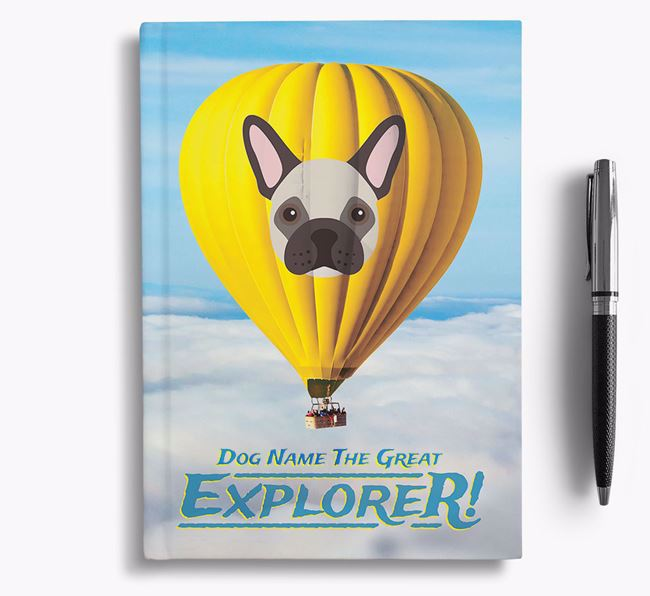 'Hot Air Balloon' - Personalized French Bulldog Notebook