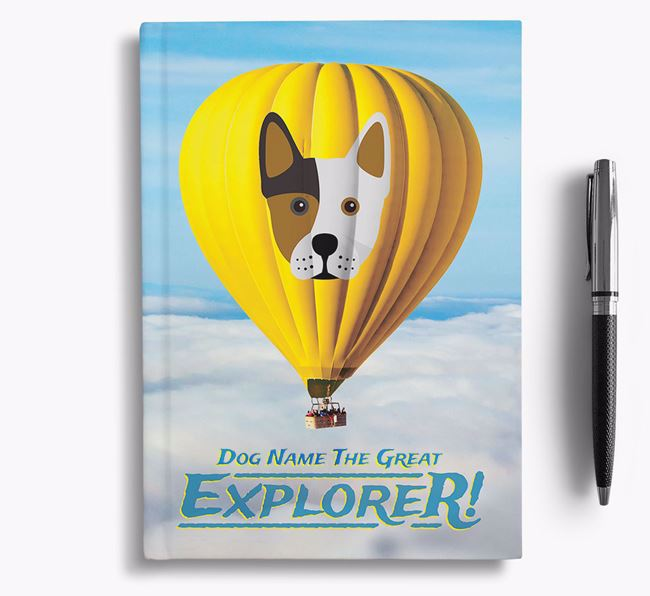'Hot Air Balloon' - Personalized Frenchie Staff Notebook