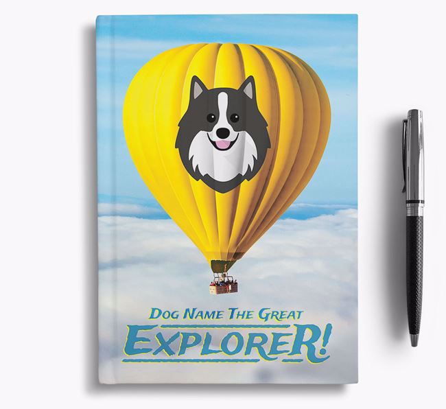 'Hot Air Balloon' - Personalized German Spitz Notebook
