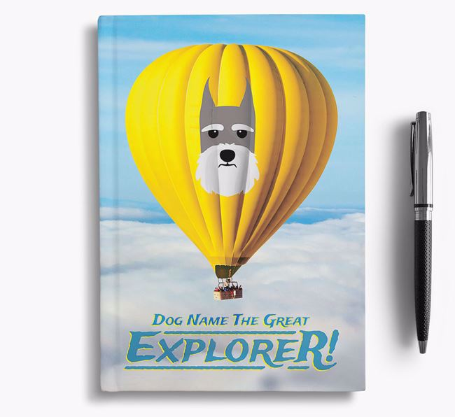 'Hot Air Balloon' - Personalized Giant Schnauzer Notebook