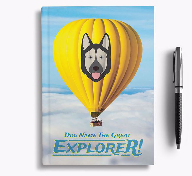 'Hot Air Balloon' - Personalized Goberian Notebook