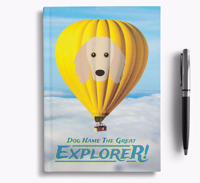 'Hot Air Balloon' - Personalized Golden Dox Notebook