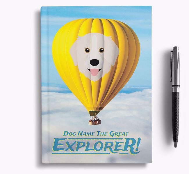 'Hot Air Balloon' - Personalized Great Pyrenees Notebook