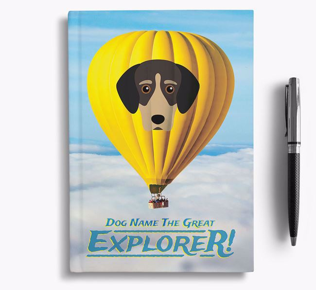 'Hot Air Balloon' - Personalized Greek Harehound Notebook