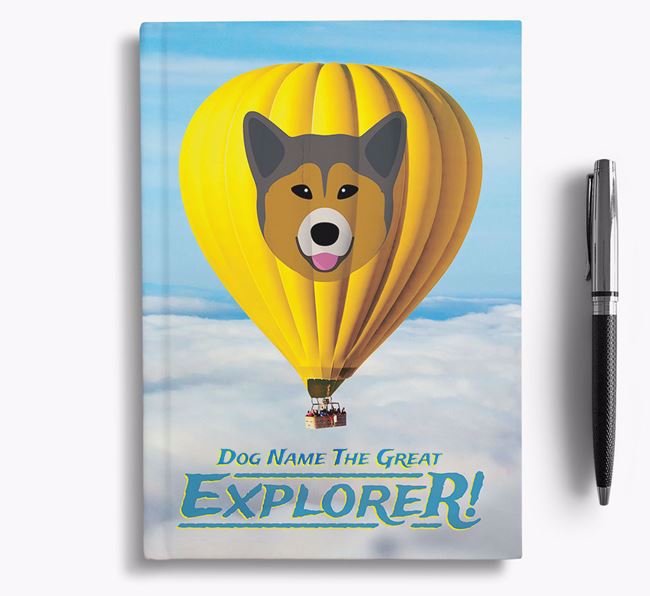 'Hot Air Balloon' - Personalized Greenland Dog Notebook