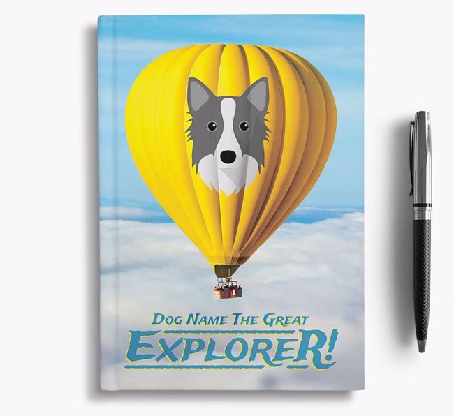 'Hot Air Balloon' - Personalized Icelandic Sheepdog Notebook
