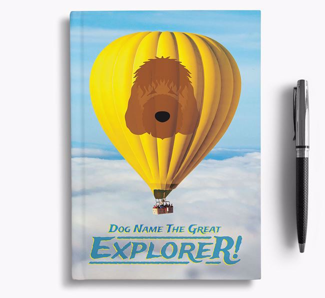 'Hot Air Balloon' - Personalized Irish Doodle Notebook