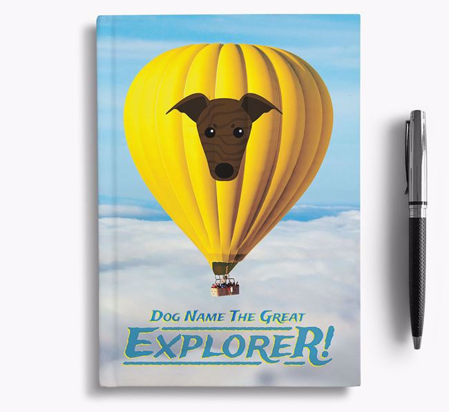'Hot Air Balloon' - Personalized Italian Greyhound Notebook