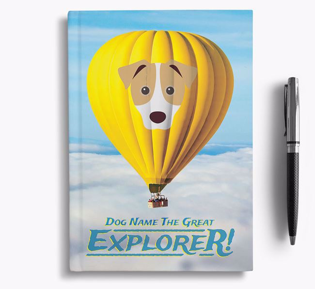 'Hot Air Balloon' - Personalized Jack Russell Terrier Notebook