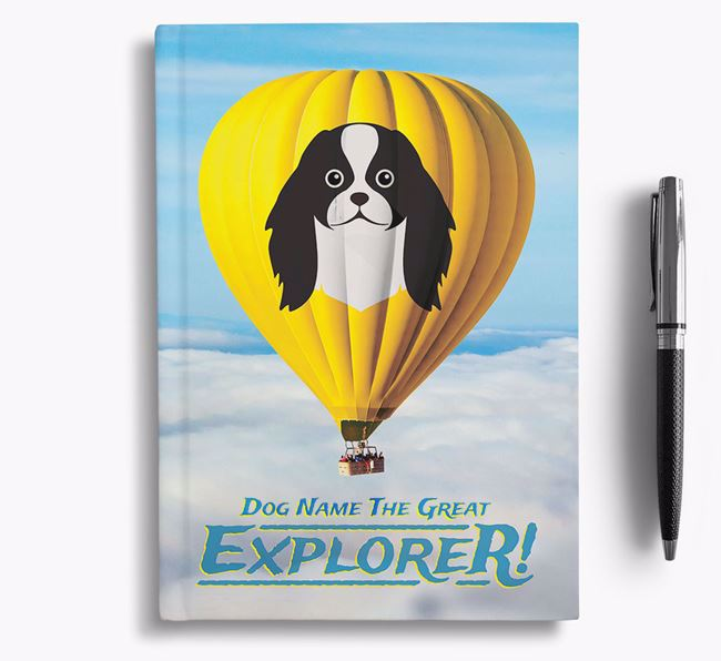 'Hot Air Balloon' - Personalized Japanese Chin Notebook