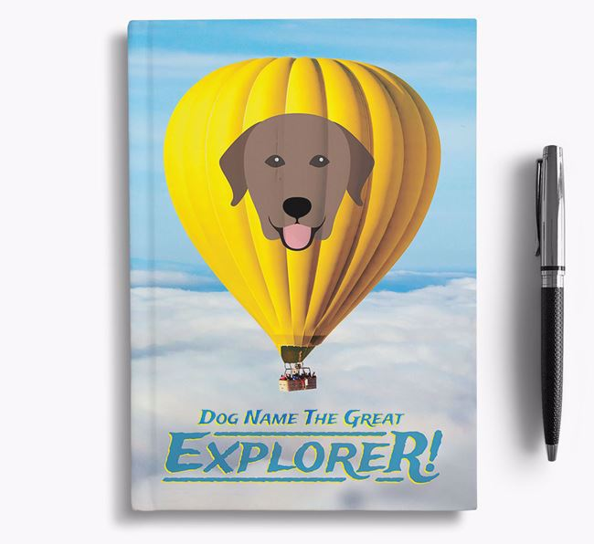'Hot Air Balloon' - Personalized Labrador Retriever Notebook