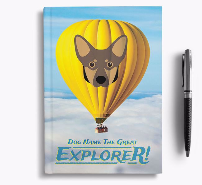 'Hot Air Balloon' - Personalized Lancashire Heeler Notebook