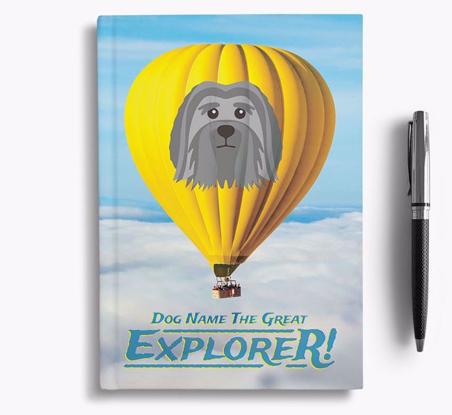'Hot Air Balloon' - Personalized Löwchen Notebook