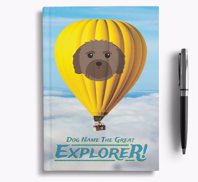 'Hot Air Balloon' - Personalized Mal-Shi Notebook