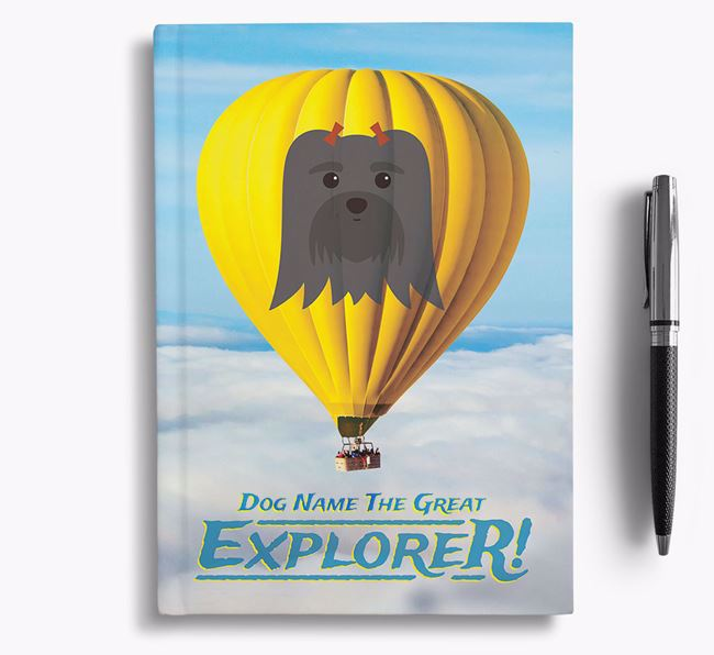 'Hot Air Balloon' - Personalized Maltese Notebook