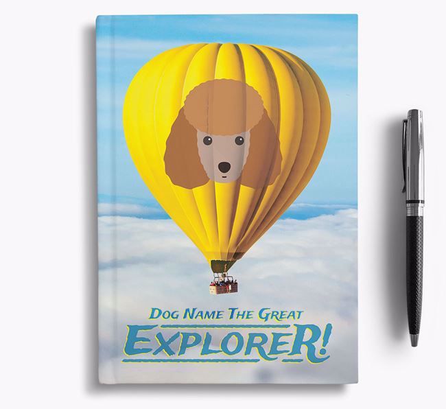 'Hot Air Balloon' - Personalized Miniature Poodle Notebook