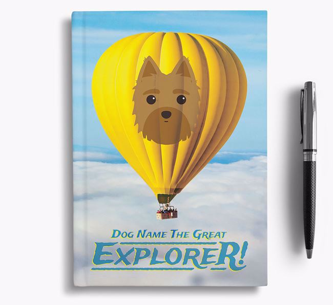 'Hot Air Balloon' - Personalized Morkie Notebook