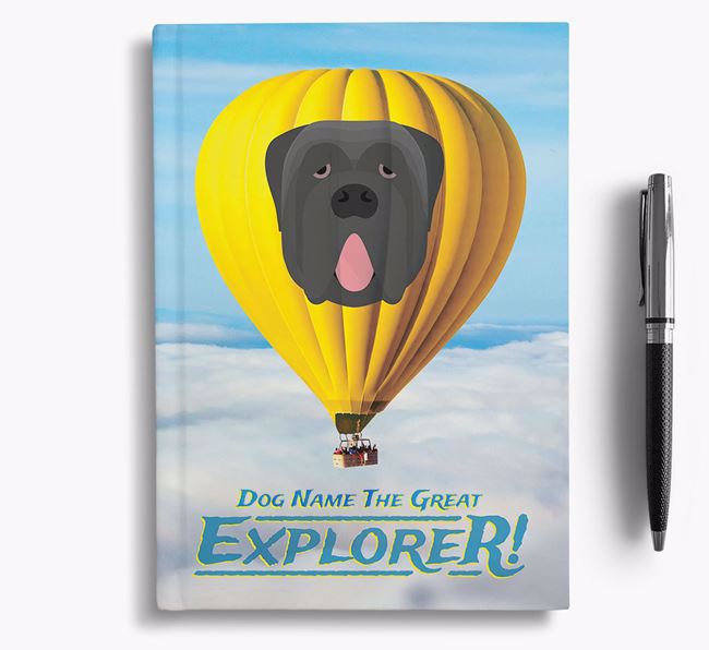 'Hot Air Balloon' - Personalized Neapolitan Mastiff Notebook