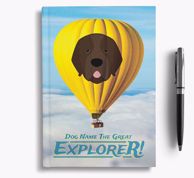 'Hot Air Balloon' - Personalized Newfoundland Notebook