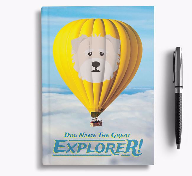 'Hot Air Balloon' - Personalized Norfolk Terrier Notebook