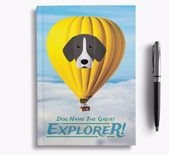 'Hot Air Balloon' - Personalized Pointer Notebook