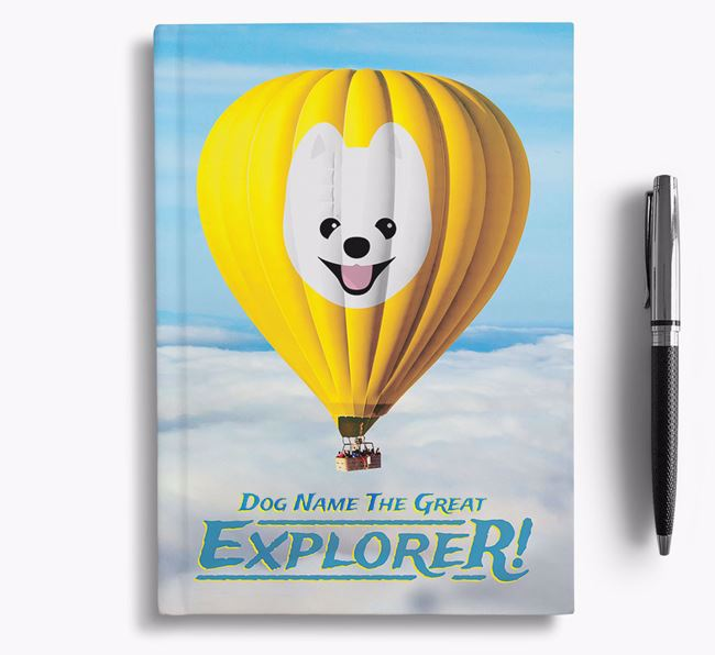 'Hot Air Balloon' - Personalized Pomeranian Notebook
