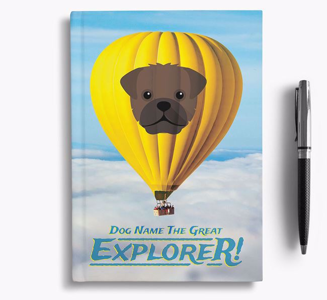 'Hot Air Balloon' - Personalized Pugapoo Notebook
