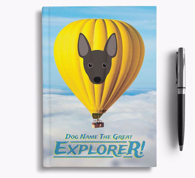 'Hot Air Balloon' - Personalized Rat Terrier Notebook