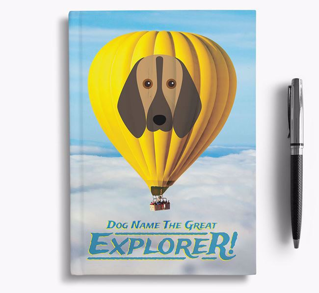 'Hot Air Balloon' - Personalized Segugio Italiano Notebook