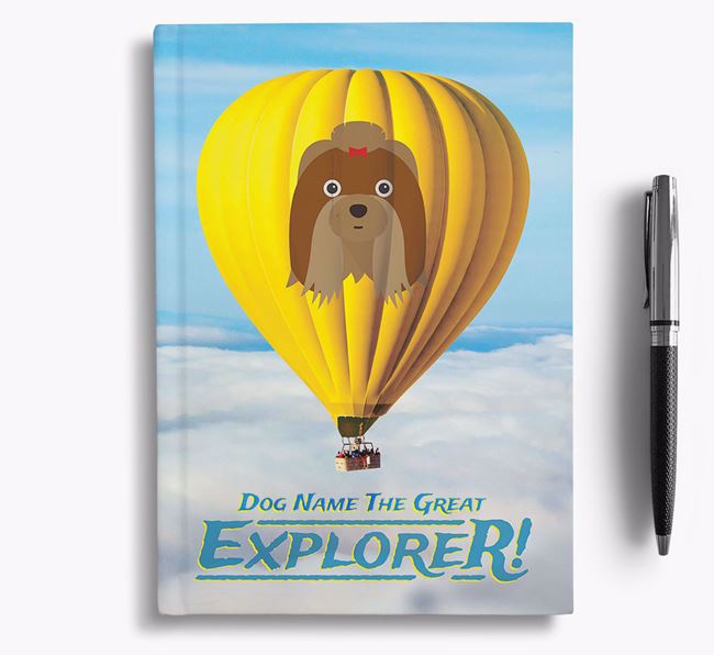 'Hot Air Balloon' - Personalized Shih Tzu Notebook