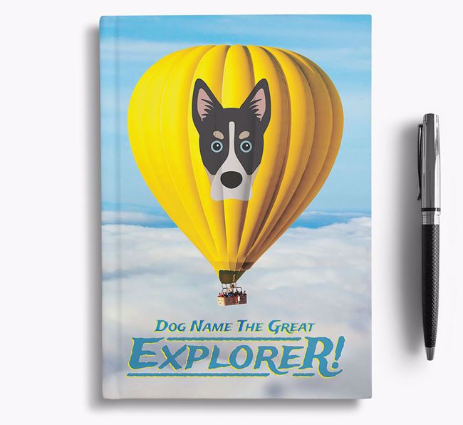 'Hot Air Balloon' - Personalized Siberian Cocker Notebook