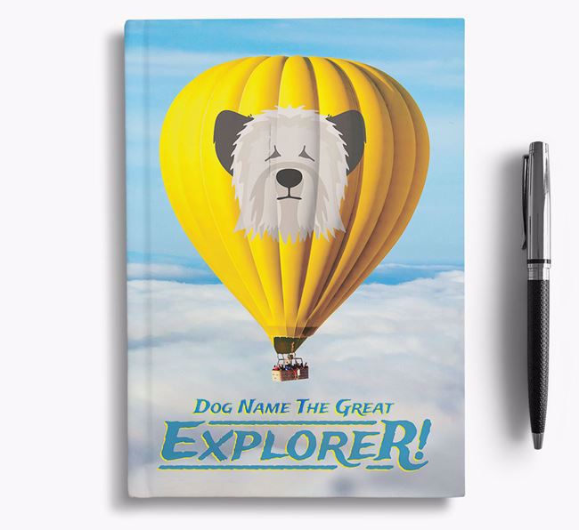 'Hot Air Balloon' - Personalized Skye Terrier Notebook
