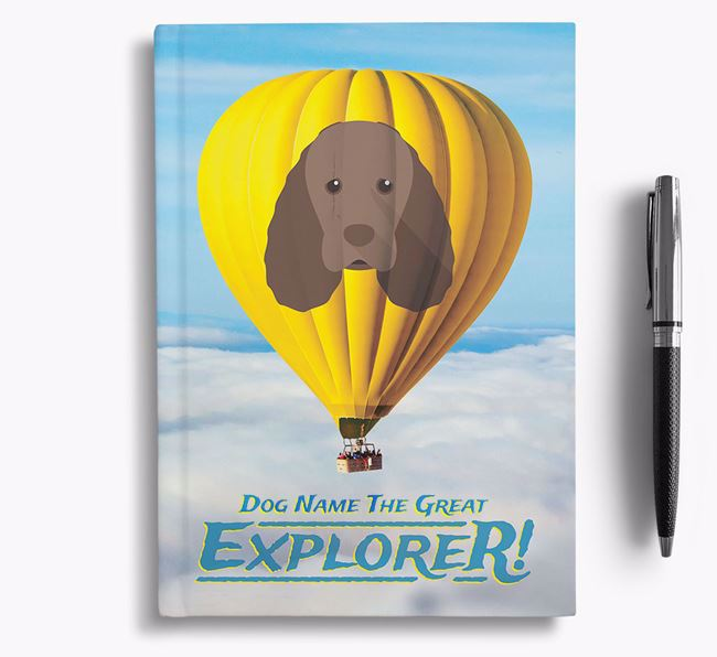 'Hot Air Balloon' - Personalized Sussex Spaniel Notebook