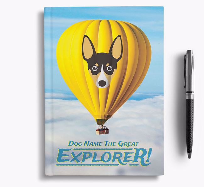 'Hot Air Balloon' - Personalized Toy Fox Terrier Notebook