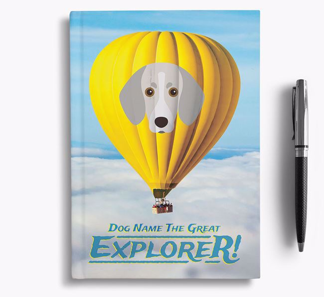 'Hot Air Balloon' - Personalized Trailhound Notebook
