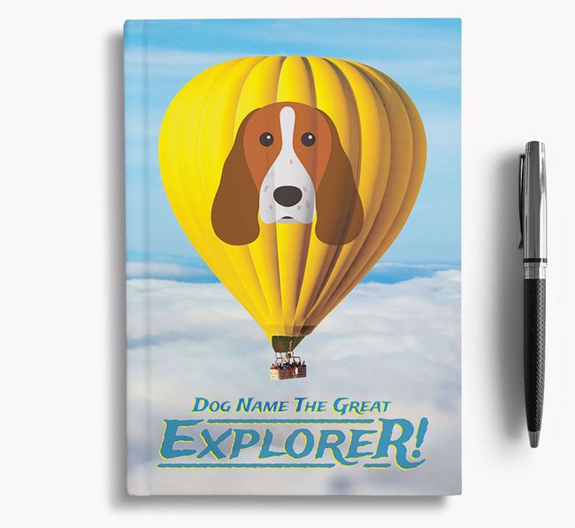 'Hot Air Balloon' - Personalized Welsh Springer Spaniel Notebook