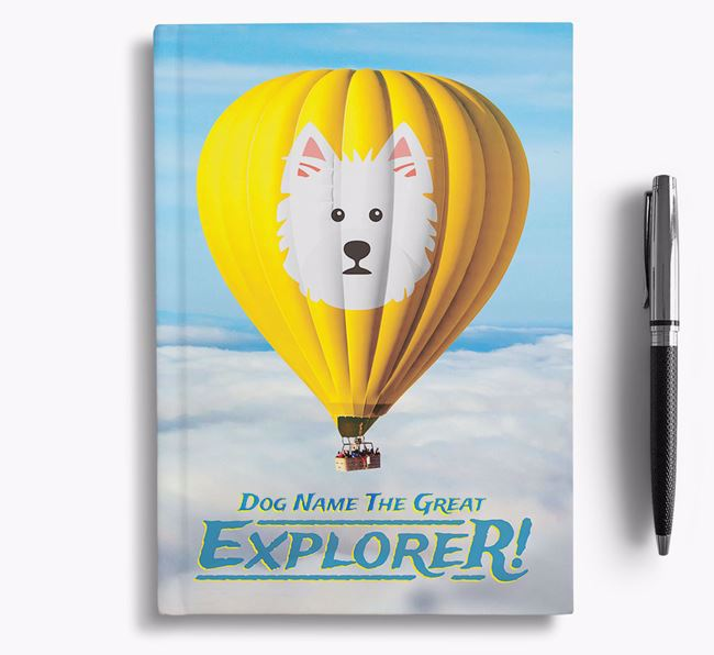 'Hot Air Balloon' - Personalized West Highland White Terrier Notebook