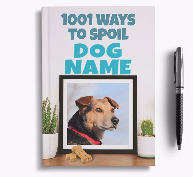 '1001 Ways to Spoil' - Personalized Black and Tan Coonhound Notebook