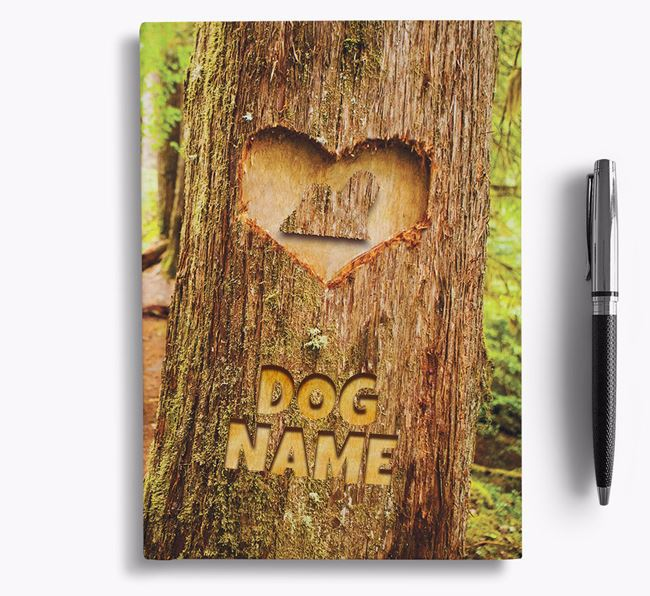 Tree Carving - Personalized Lhasa Apso Notebook