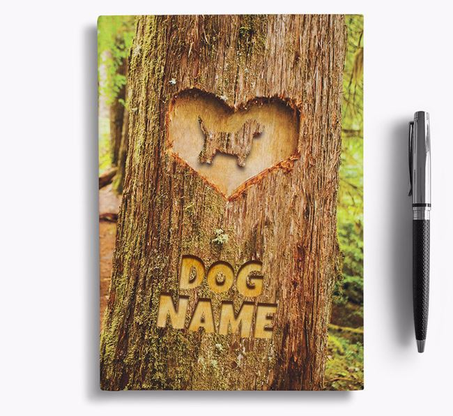 Tree Carving - Personalized Petit Basset Griffon Vendeen Notebook