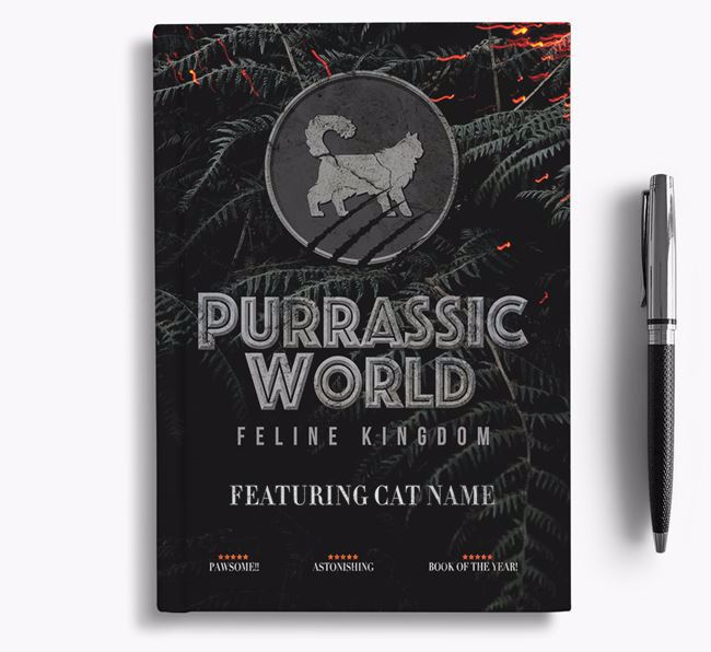 'Purrassic World' Notebook - Personalized for your Cat