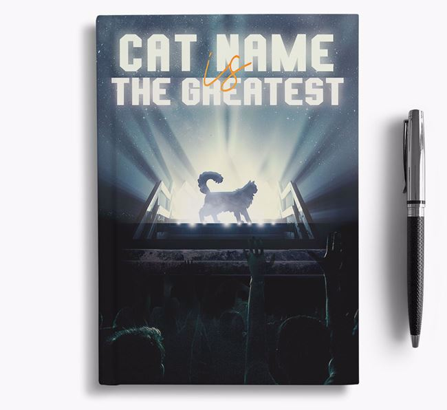 The Greatest - Personalized Cat Notebook