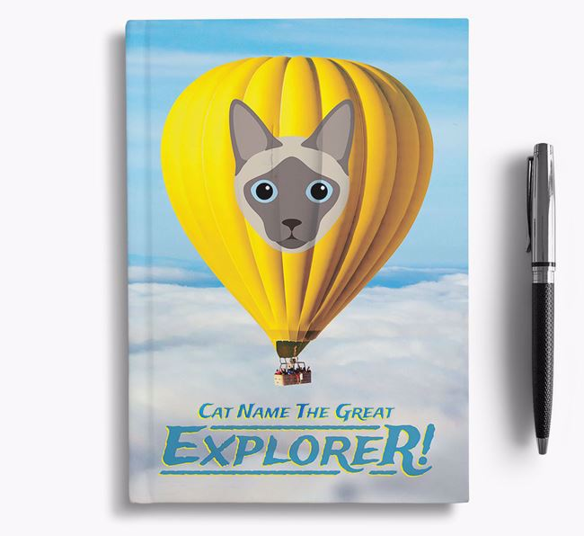 Hot Air Balloon - Personalised Siamese Notebook