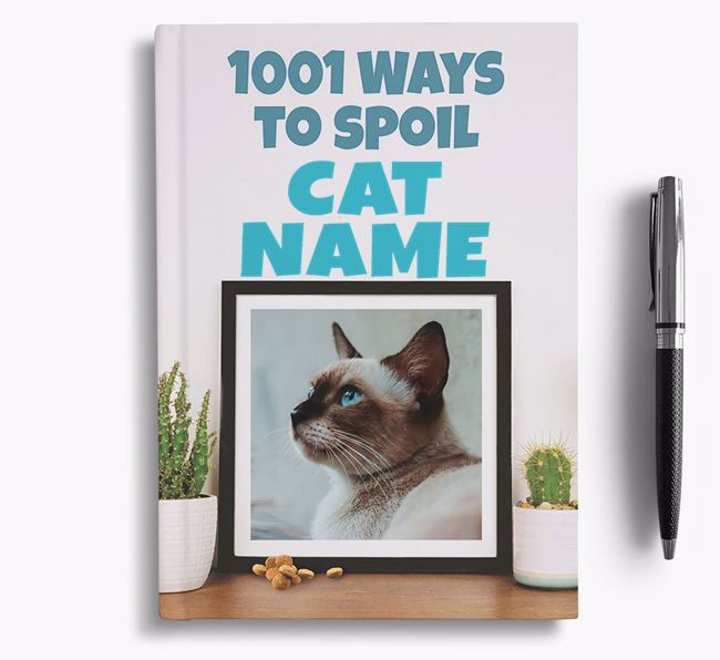 '1001 Ways to Spoil' - Personalised Siamese Notebook